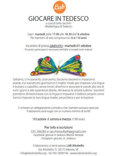 GIOCARE IN TEDESCO!!!